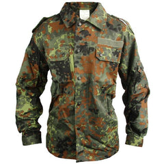"This short length German Flectarn Field Shirt's pattern is unique making it suitable for numerous environments. It's a tough looking field shirt suitable for both cooler and warmer weather while you do ""real men's work"" outdoors."