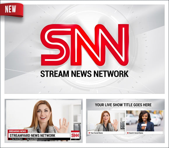 Stream News Network - StreamYard Overlay