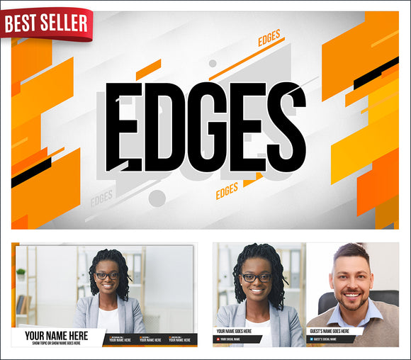 Edges - StreamYard overlay and background template