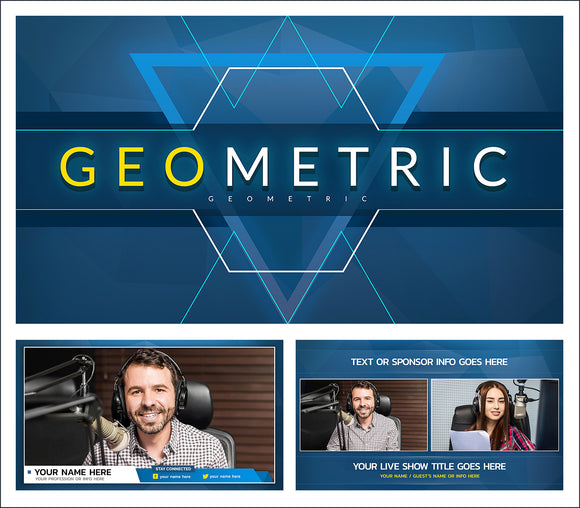 Geometric - Live streaming overlays and backgrounds for news and news style live streams.