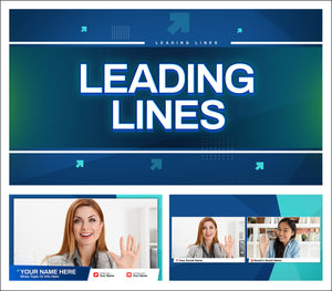 Leading Lines - Live streaming overlays and backgrounds for news and news style live streams.