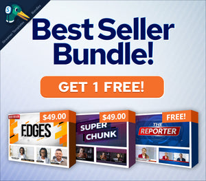 "Buy 2 templates and get 1 free with this Streamer Templates ""Best Seller"" bundle!"