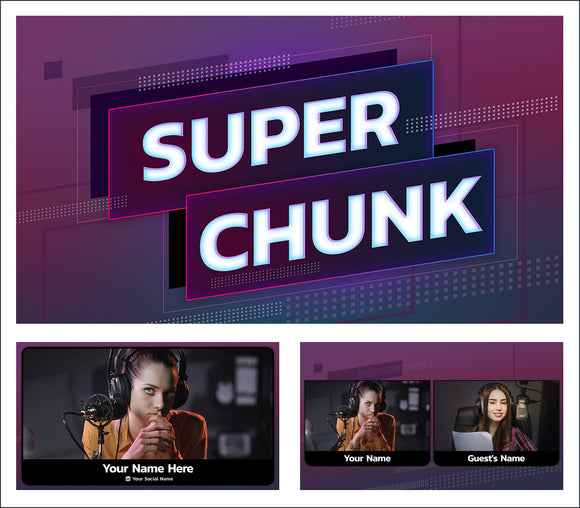 Super Chunk  - StreamYard overlay and background template