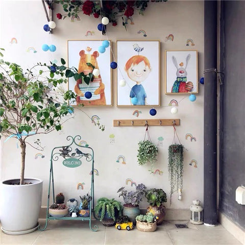 Rainbow wall stickers on wall uk