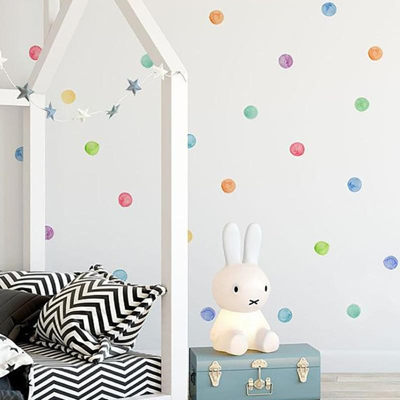 29 Pcs/Set PVC Baby Wall Decals Colored Dots Creative Stickers for Children Vinyl Nursery Room Decoration - tilesticker