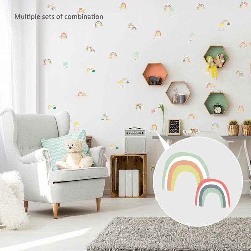 Rainbow wall art- Great for decorating Nurseries and Bedrooms - tilesticker