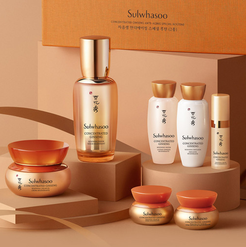 Sulwhasoo Concetrated Ginseng Serum+Cream Special Set (7 Items+Gifts) from Korea