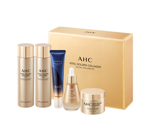 AHC Vital Golden Collagen Special Skin Care Set (5 Items) from Korea