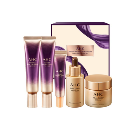 AHC Ageless Real Eye Cream for Face Gold Synergy Care Set (5 Items) from Korea