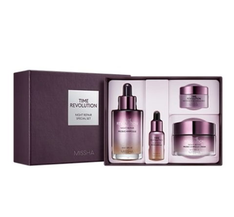 MISSHA Time Revolution Night Repair Special Set (4 Items) from Korea