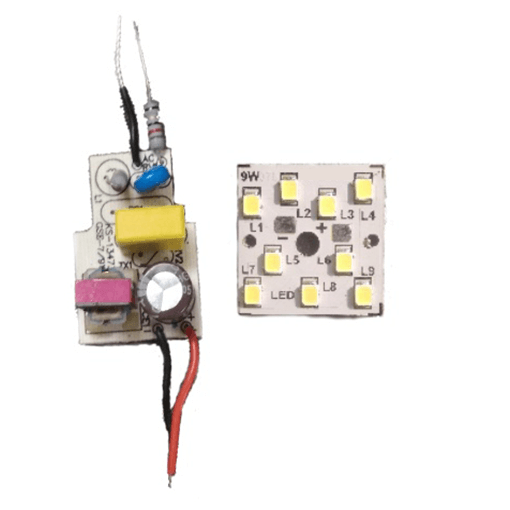 LED Light Bulb Driver and MCPCB 9Watt Pack of 50