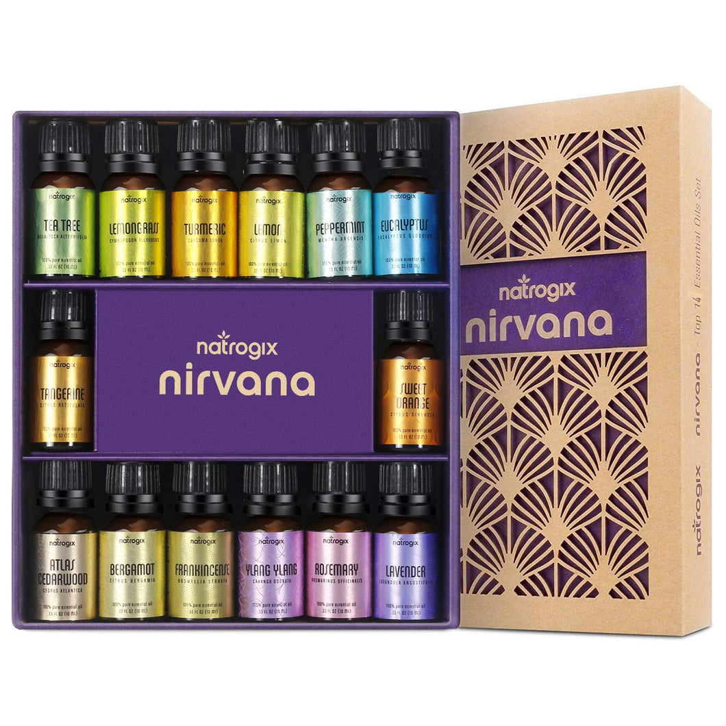 Natrogix Nirvana Essential Oils Popular 14 Essential Oils Set - ValueLink Shop