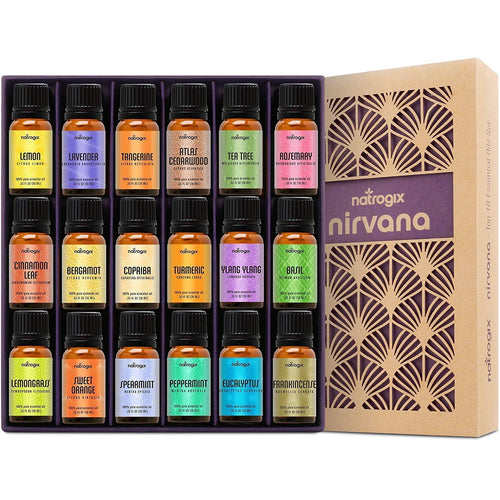 Natrogix Top 18 Nirvana Essential Oil Set 100% Pure Therapeutic Grade - ValueLink Shop