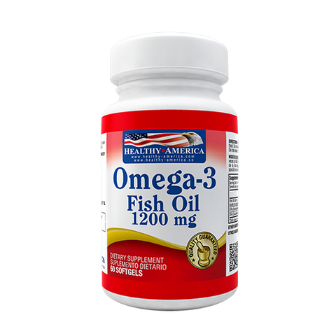 Omega 3 Fish Oil (EPA, DHA) 1200 mg 60 cápsulas