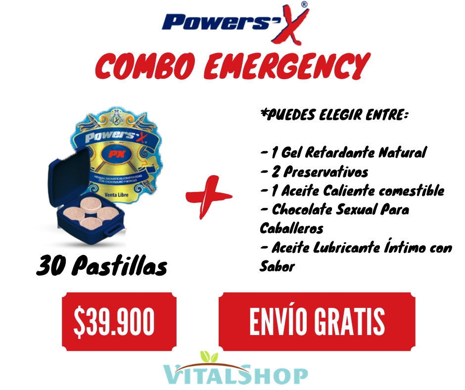 Súper Combo Emergency Power Sex Potenciador Sexual (32 Tabletas) + Obsequio