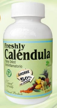 Caléndula 500 Mg Frasco-50 Cápsulas (Anti-inflamatorio) Natural Freshly