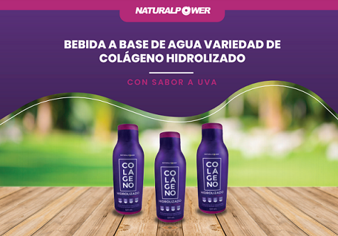 COLAGENO HIDROLIZADO +VITAMINA C Sabor uva Natural power 500ml