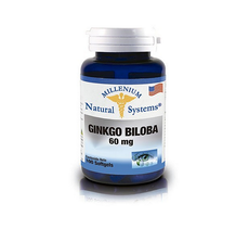 Ginkgo Biloba Millenium Natural System 60Mg 100 Softgels