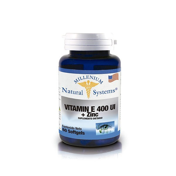 Vitamina E 400 IU + Zinc 60 Softgels