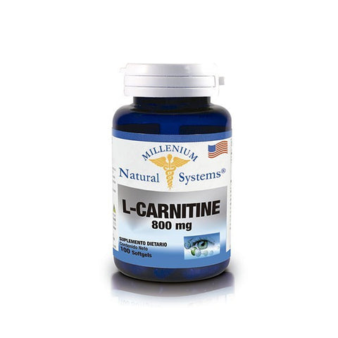 L - Carnitina Millenium Natural System 800Mg 100 Softgels