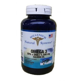 Omega 3 EPA + DHA 1.300 Mg (salmon oil) 100 Softgels