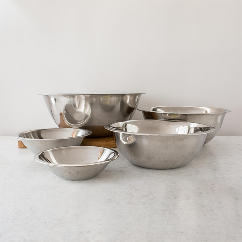 Stainless Steel Nesting Mixing Bowls, Set of 5