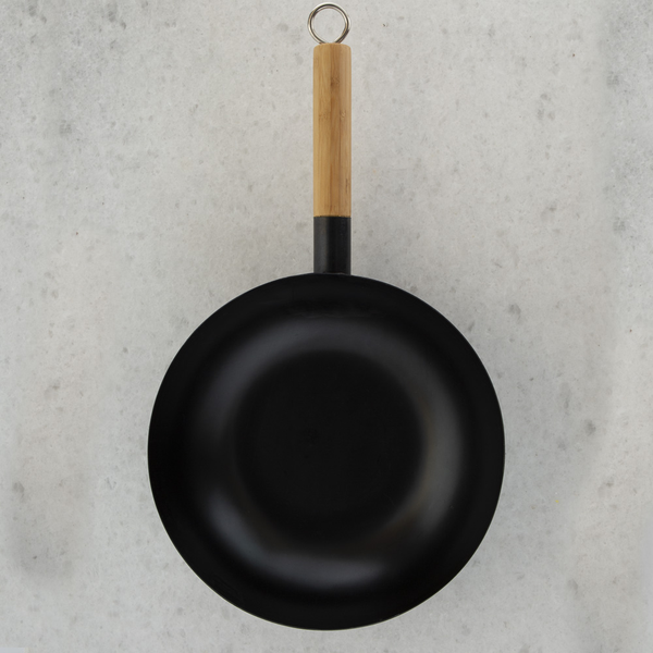 Flat Bottomed Carbon Steel Wok