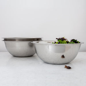Stainless Steel Stacking Mixing Bowls, Set of 3