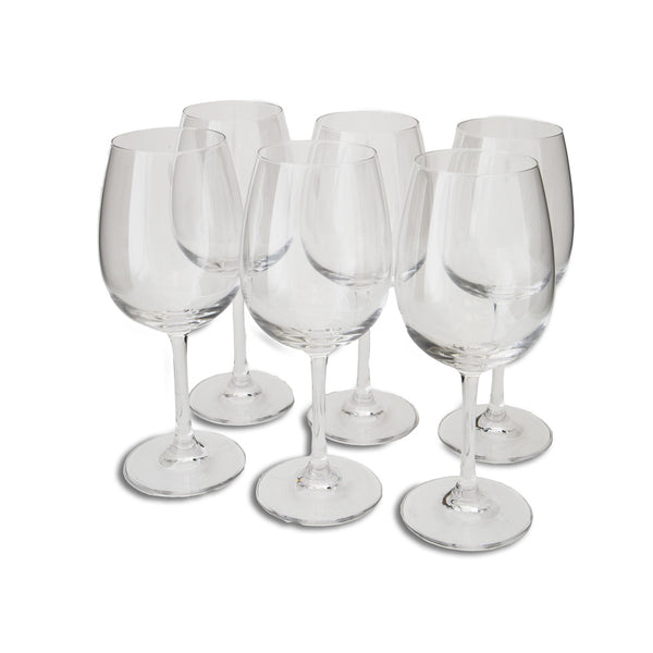 Red Wine Glasses, Set of 6