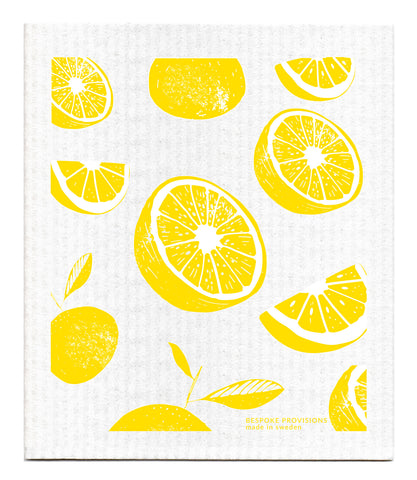 Swedish Dishcloth, Lemons