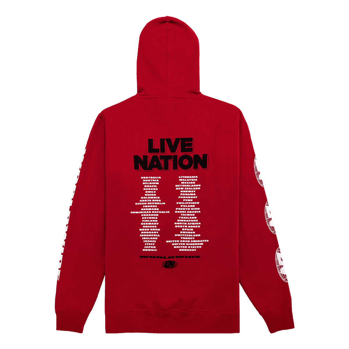 WORLDWIDE HOODIE-Live Nation