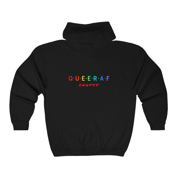 Queer AF Okurrr Unisex Heavy Blend™ Full Zip Hooded Sweatshirt