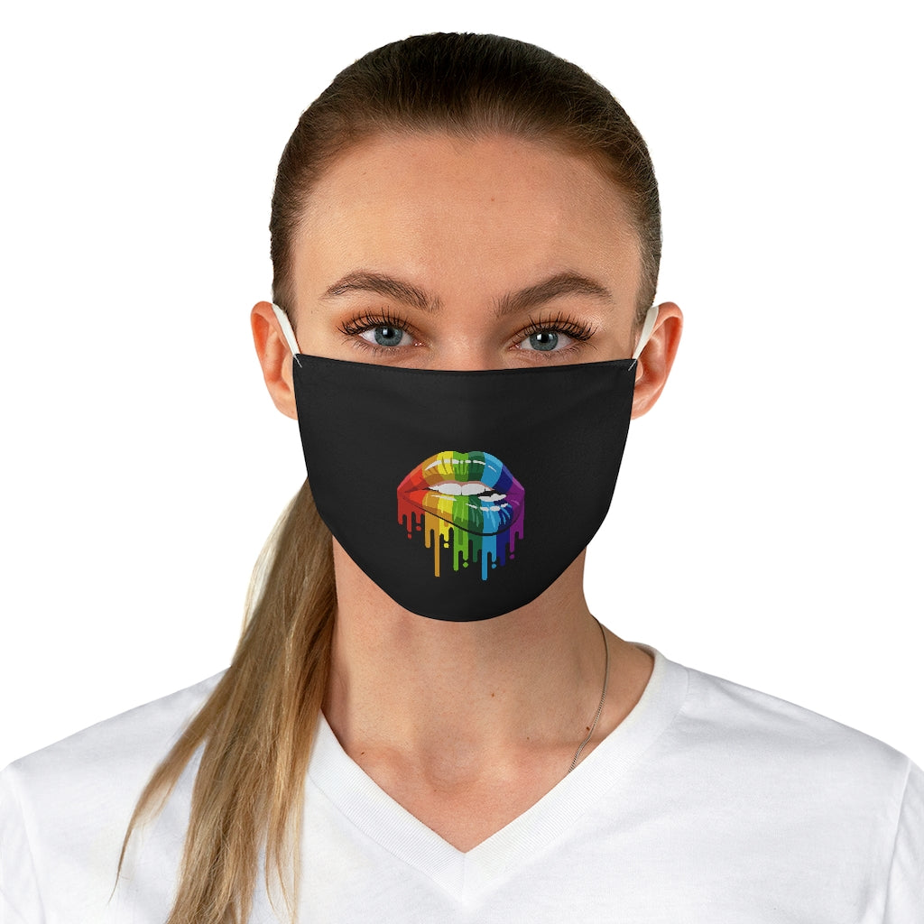 Rainbow Dripping Lips - Fabric Face Mask