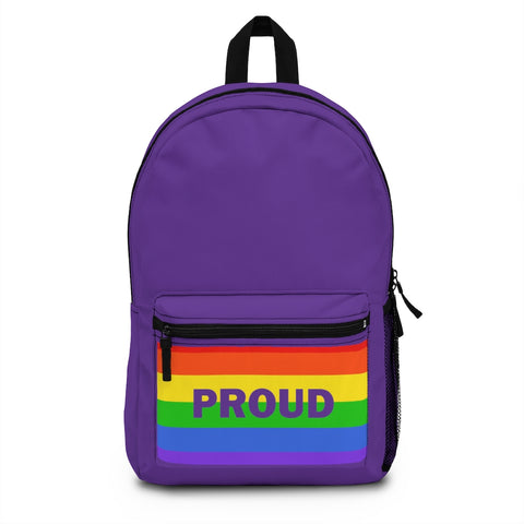 Proud With Rainbow Flag Backpack (Made in USA)