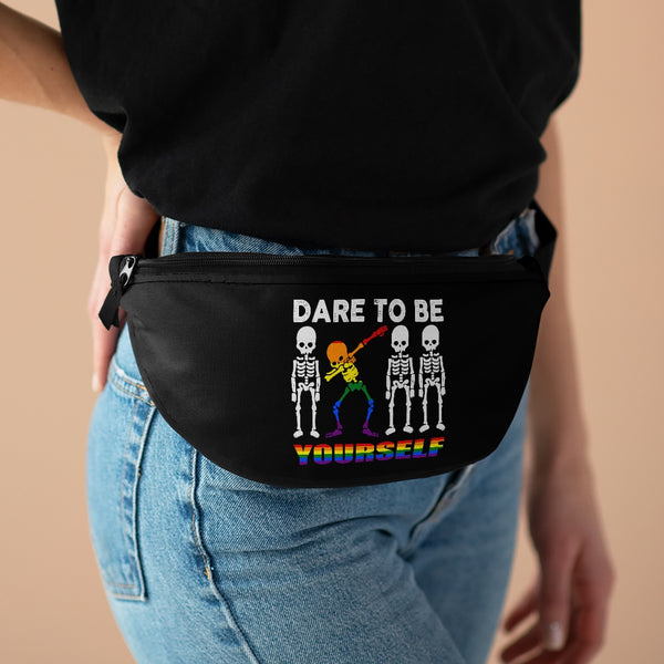 Dare To Be Yourself Dabbing Skeleton Fanny Pack