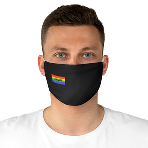 Proud With Rainbow Flag - Fabric Face Mask
