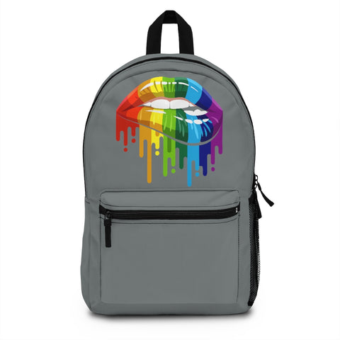 Rainbow Dripping Lips Backpack (Made in USA)