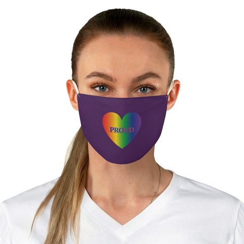 Proud With Rainbow Heart - Fabric Face Mask
