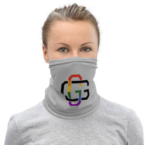 GangstaGay Black and Rainbow GG Neck Gaiter