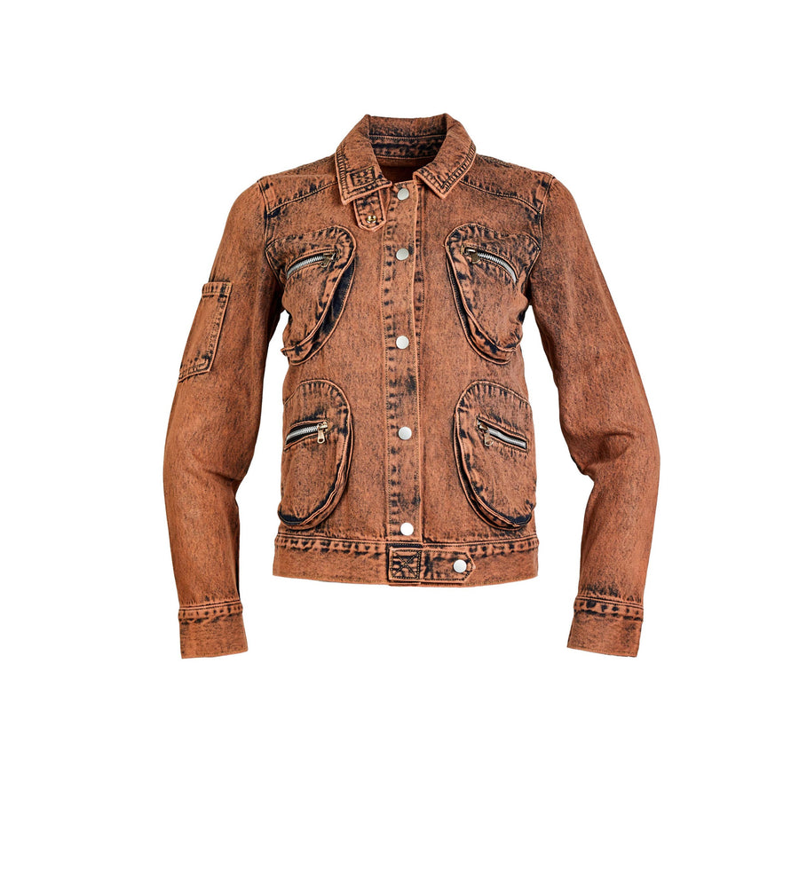 Cargo Pocket Denim Jacket