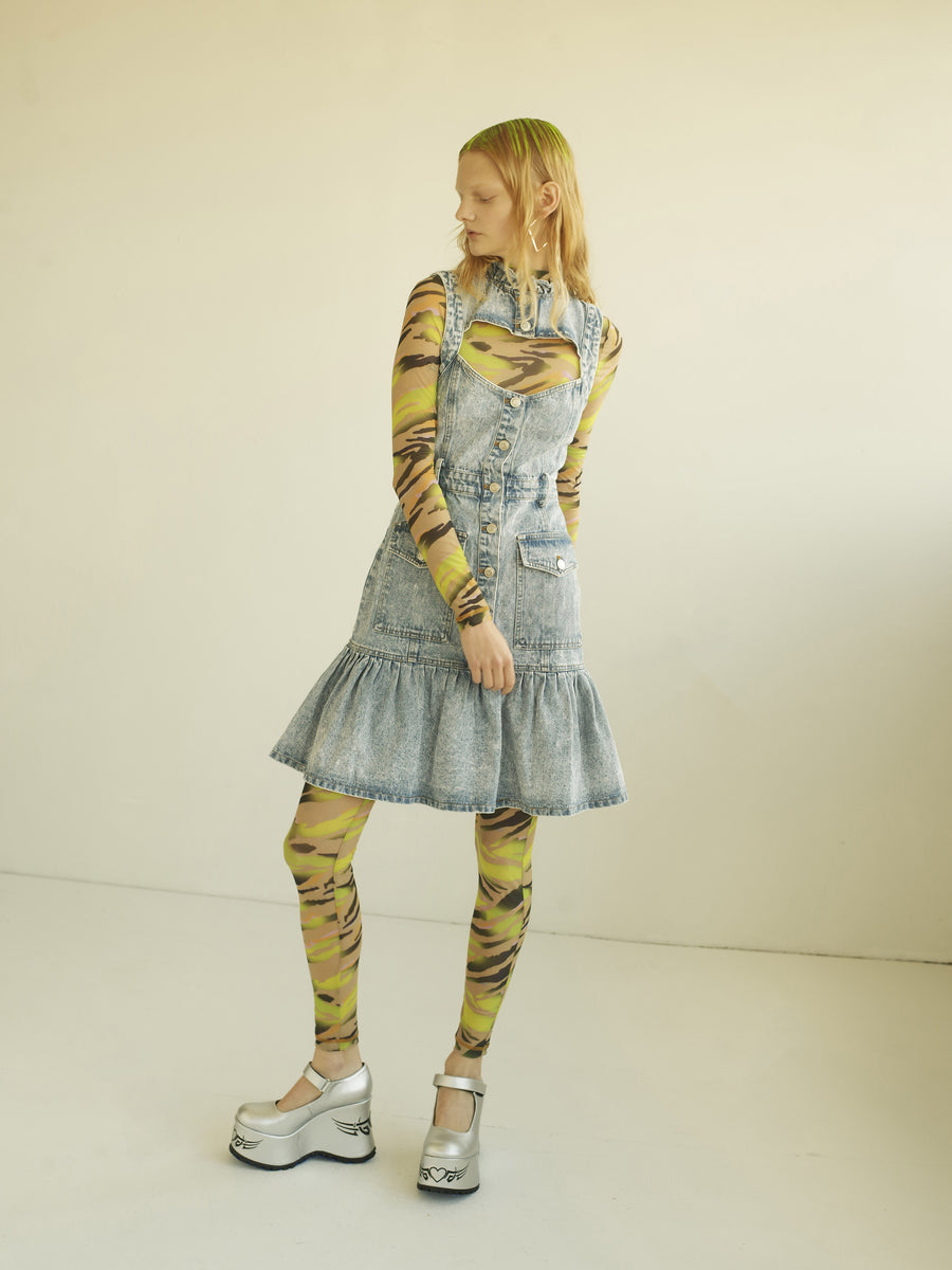 Fiona Acid Wash Denim Dress