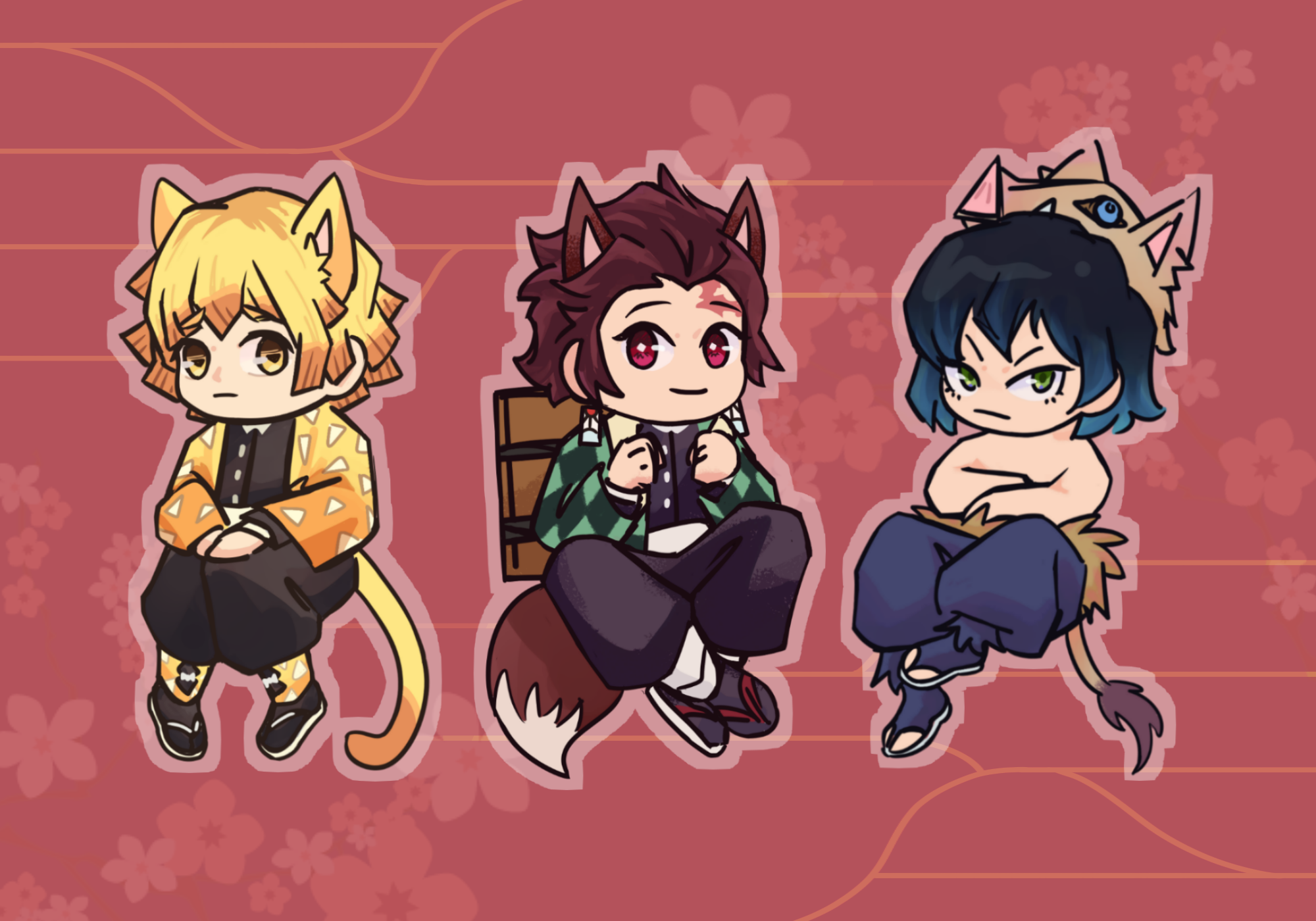 Kemono Acrylic Charms + Stickers