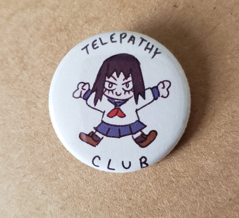 MP100 - Tome Telepathy Club Round Button Pin