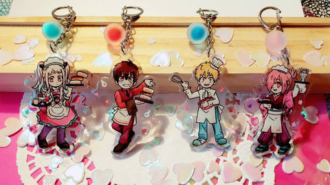 JSHK - Glitter Epoxy Acrylic Cafe Charms