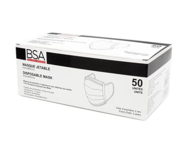 BSA Disposable Mask - Pack of 50 (Blue)