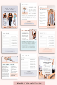 5 Day Challenge Canva Templates