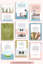 Load image into Gallery viewer, Pinterest Blog Canva Templates