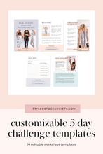 Load image into Gallery viewer, 5 Day Challenge Canva Templates