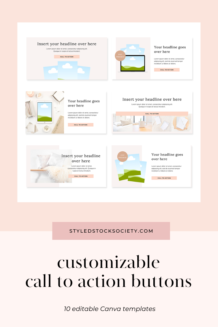 Call to Action Canva Templates