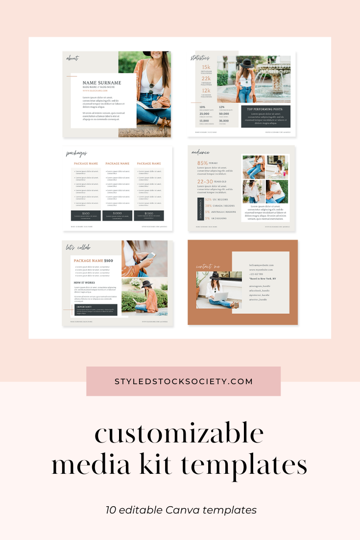Media Kit Canva Templates